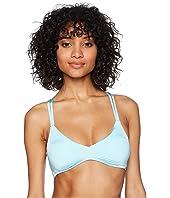 Solid Strappy Bralette Bikini Top