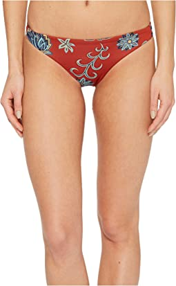 Roxy - Softly Love Print Reversible Surfer Bikini Bottom