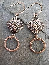Copper Plated Clover Hoop Earring Bohemian Vintage Jewelry