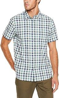The North Face Men's M S/S Getaway Shirt Blizzard Blue Plaid