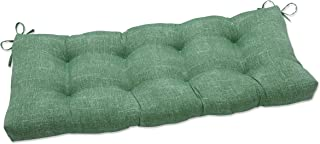 Pillow Perfect Indoor Tory Palm Outdoor Tufted Bench Swing Cushion, 44 X 18 X 5, Green