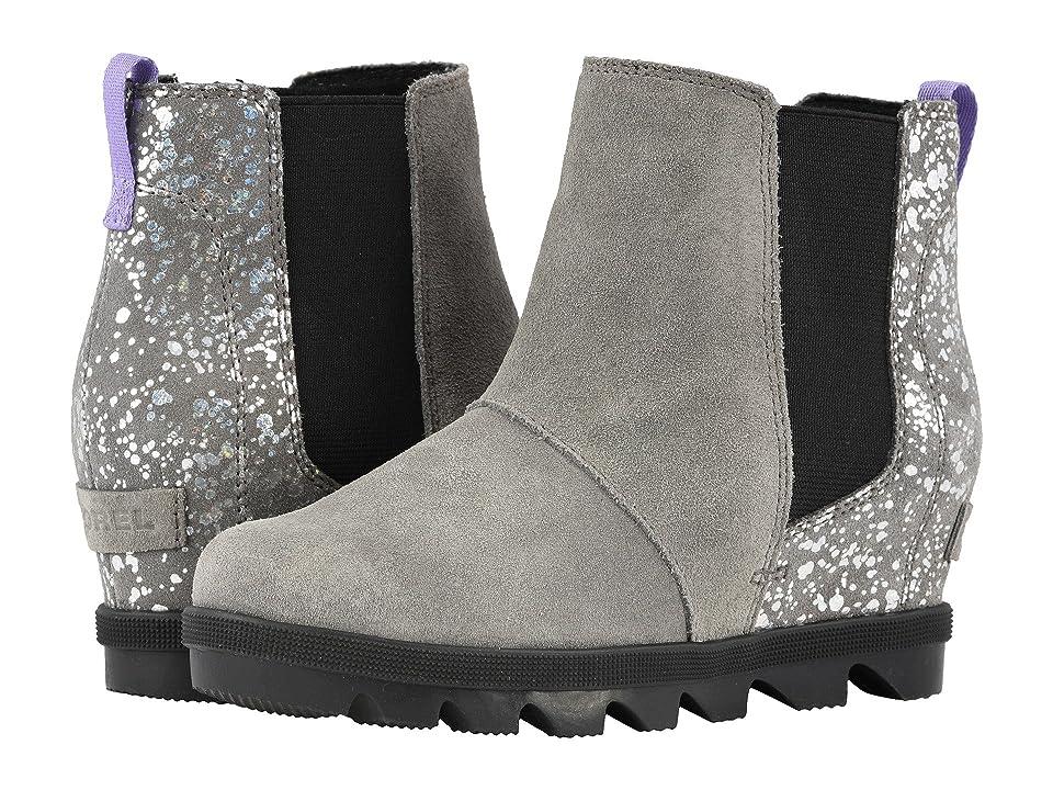 SOREL Kids Joan of Arctictm Wedge II Chelsea (Little Kid/Big Kid) (Quarry/Paisley Purple) Girls Shoes