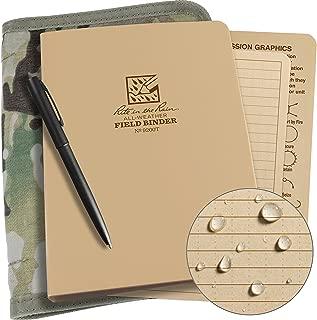 Rite in the Rain Weatherproof Binder Kit: Multicam Cordura Cover, Tan Binder, 50 Sheets Tan Universal Loose Leaf, Weatherproof Pen (No. 9200M-KIT)