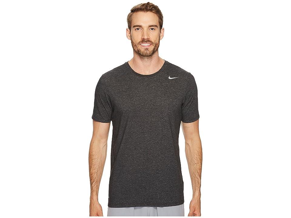 Nike Dri-FITtm Version 2.0 T-Shirt (Black Heather/Black Heather/Matte Silver) Men