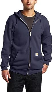 Men's Midweight Hooded Zip-front Sweatshirt,Navy...