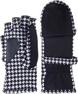 houndstooth fingerless gloves