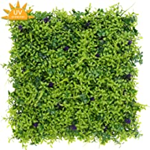 Boxwood Panels Artificial Greenery Hedge Backdrop 12 Pack for Outdoor Privacy, Indoor Decor, Garden, Fence, Thick Large 20 Inches Square DIY Realistic Faux Green Grass Wall Topiary Plant, Lavender