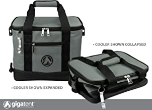 GigaTent Soft Insulated Collapsible Cooler for Drinks and Food Cooler - Lightweight Foldable Lunch Box with Bottle Opener Beach and Travel Lightweight Tear Resistant Fabric