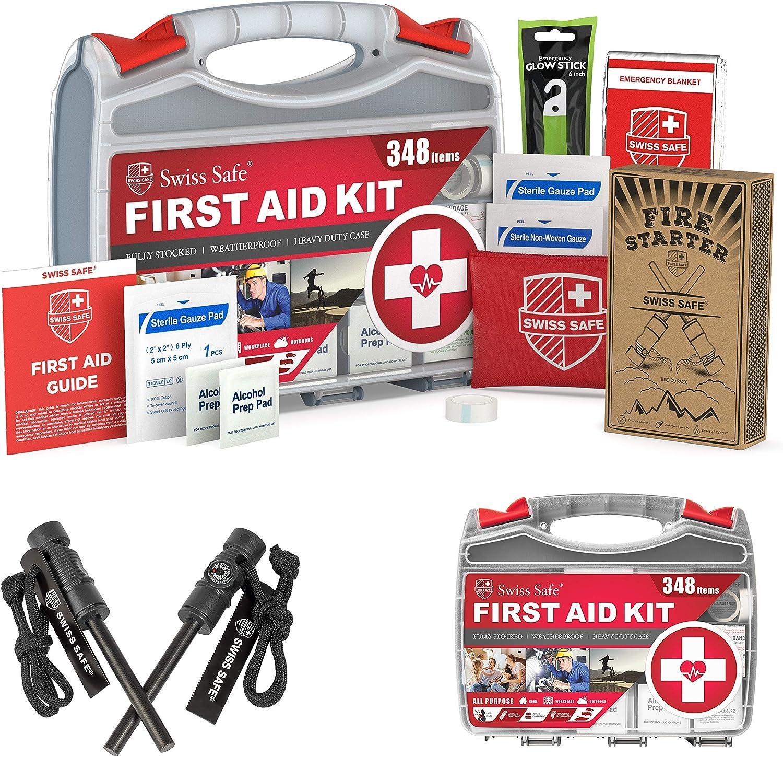 Bundle Save: 2-in-1 First Aid and 100%品質保証! セール商品 Starter 348-Piece Fire Kit