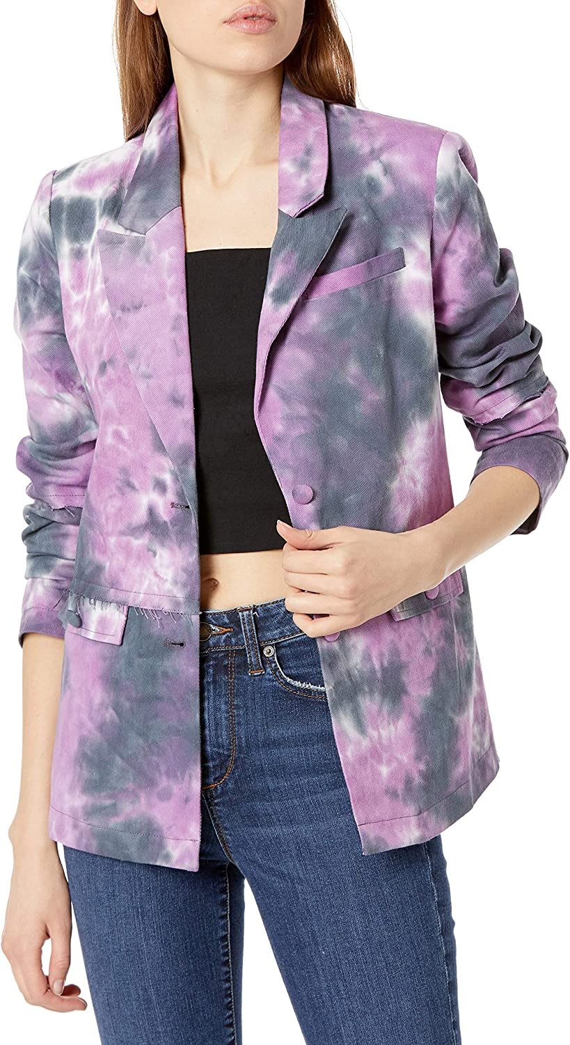 KENDALL + KYLIE Women's Single Breasted Edge Max 64% OFF Raw with Det Blazer Max 61% OFF