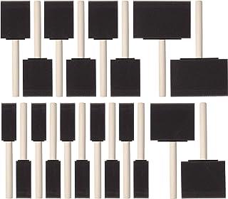 Bates- برس های فوم رنگ ، اندازه های متنوع ، 20 عدد ، برس اسفنجی ، برس های فوم ، برس های فوم برای نقاشی ، برس های فوم برای رنگ آمیزی ، برس های فوم برای پلی اورتان ، برس های اسفنجی برای رنگ آمیزی