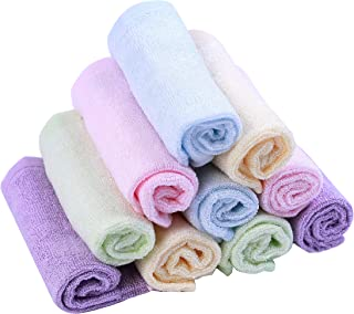 Moolecole Bamboo Fiber Baby Washcloths Extra Soft Towel for Babys Sensitive Skin Absorbent and Reusable Baby