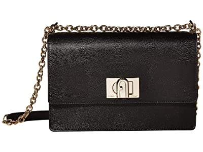 Furla 1927 Small Crossbody 24 (Nero) Handbags