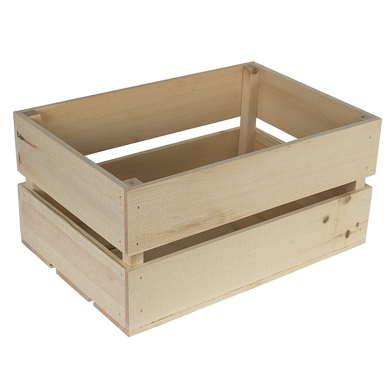 Walnut Hollow Rustic Wood Crate DIY Home Décor Accent Project, 17.25-inches x 11.63-inches x 8.25-inches