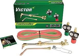 Victor Technologies 0384-2050 Contender Heavy Duty Cutting System, Acetylene Gas Service, ESS3-15-510 Fuel Gas Regulator