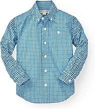 Hope & Henry Boys' Gingham Poplin Button Down Shirt