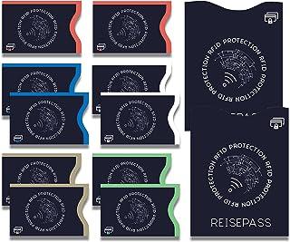 La cubierta protectora de RFID y NFC certificada por TÜV (10 + 2) piezas protectora para tarjetas de crédito, tarjetas EC,...