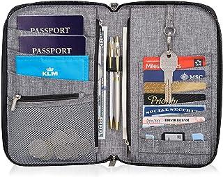 Valante Premium Family Travel Document Organizer Capacious RFID 1-3 Passport Holder Wallet (Medium)