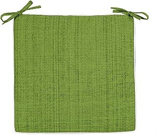 Delindo Lifestyle Cojines para sillas de exterior SAMBA verde, 2 piezas, impermeable, antimanchas, casa y jardin, 40x40 cm