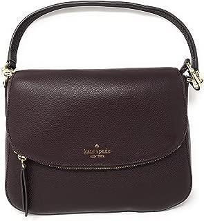 Kate Spade New York Jackson Soft Pebbled Leather Medium Flap Shoulder bag (Chocolate Chery)