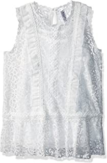 Beautees Girls' Big Sleeveless Victorian Top