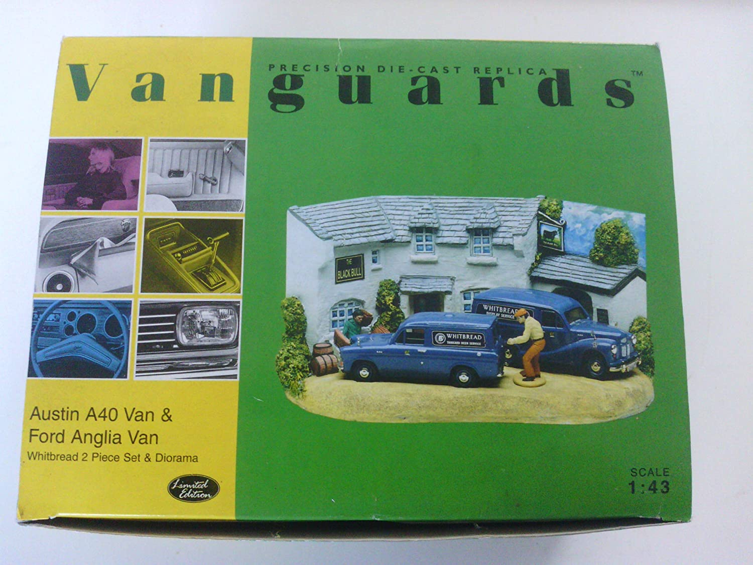 Vanguards 1 43 Scale Model Car Diorama BD1002  Ford Anglia Van  Whitbread