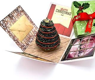 3D Miniature - Originale Biglietto di Auguri Natalizio impreziosito con cristalli Swarovski® - Regalo di Natale - Segnapos...