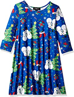 Amy Byer Girls' Big Cute Ugly Christmas Dress
