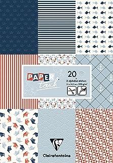 Clairefontaine 95242C Bloc de 20 Feuilles à Motifs en Papier Cartonné 200g + Stickers Alphabet + Étiquettes à découper - F...