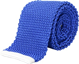 Hugo Boss Men's Blue 100% Silk Knitted Square End Tie