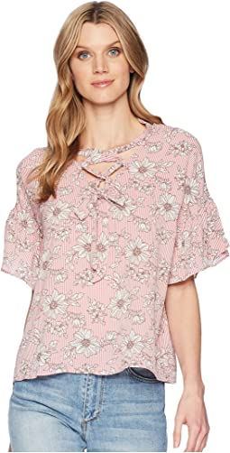 Willa Lattice Tie Blouse