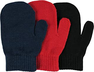 Toddler Boys and Infants Magic Stretch Mittens 3 Pairs Assortment