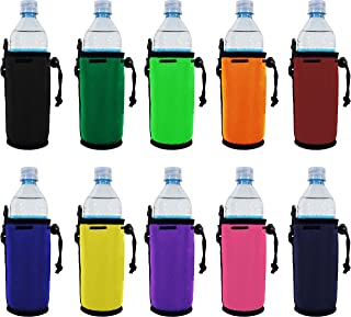 Blank Neoprene Water Bottle Coolie(s) with Full Bottom (10, Various)
