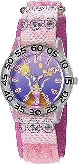 ساعة ديزني رابونزل كواترز بلاستيك ونايلون للبنات - اللون: بنفسجي موديل W002961