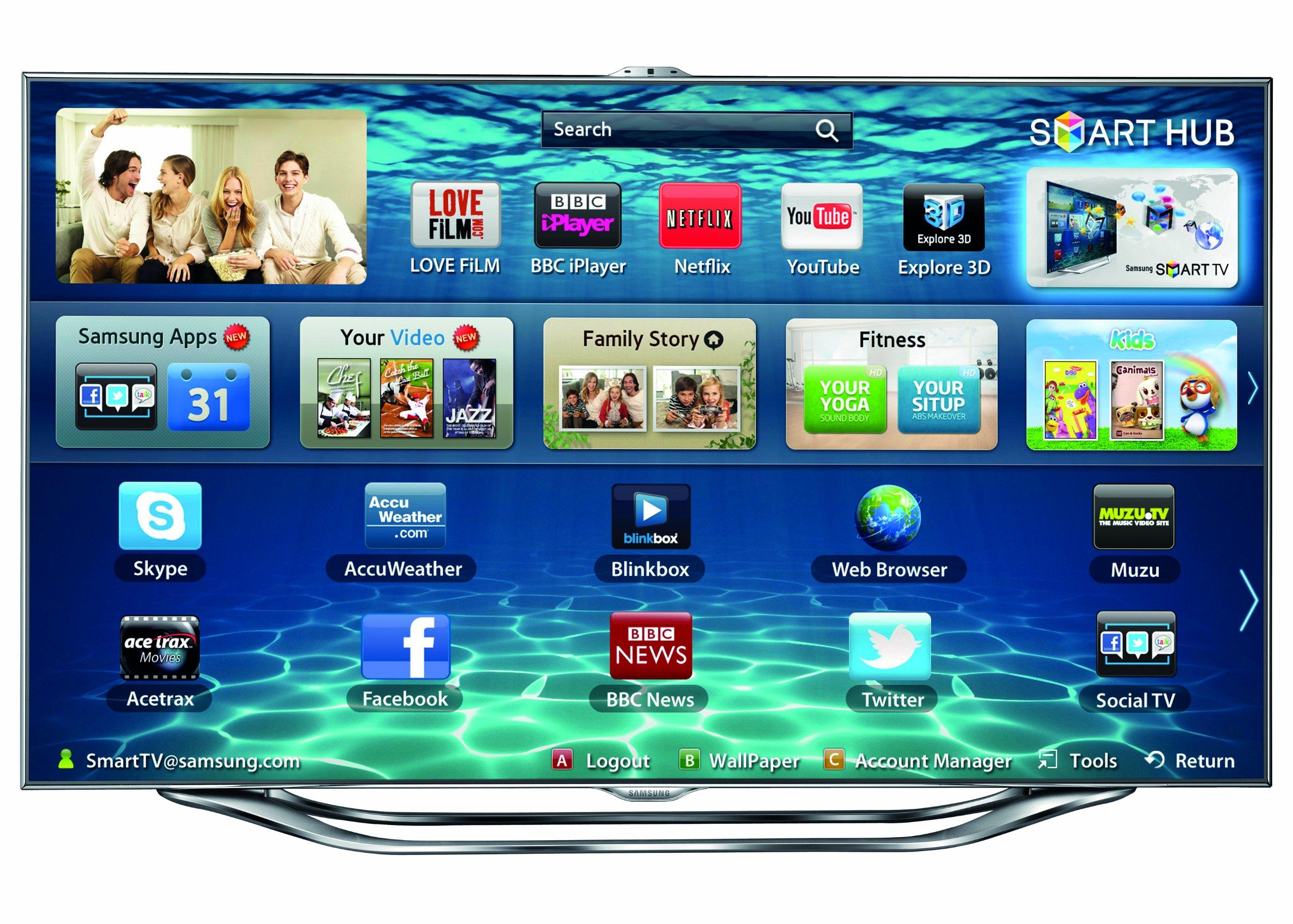 Samsung UE55ES8000 - Televisor Full HD, pantalla LED de 55