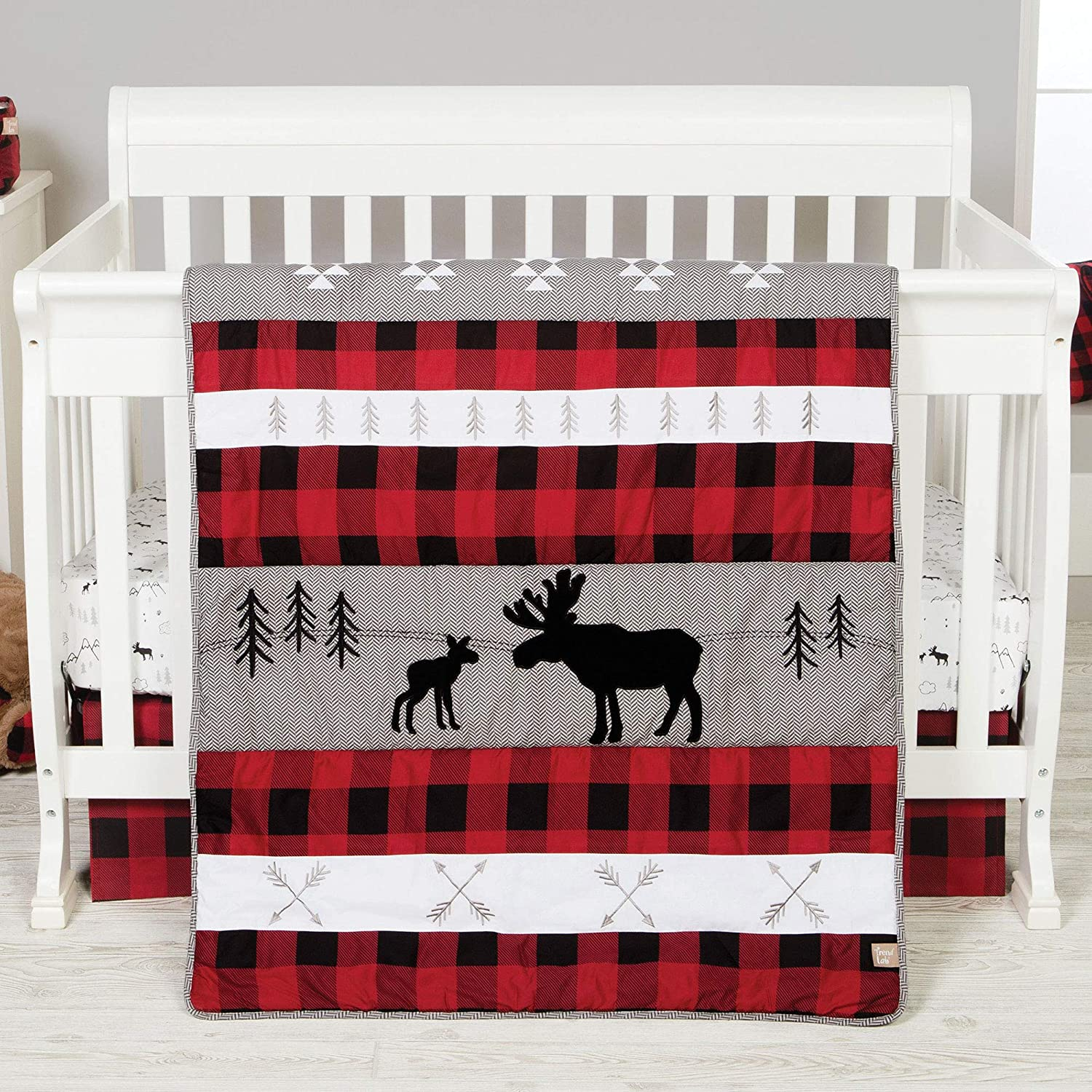 Lumberjack Moose Forest ! Super beauty product restock quality top! quality assurance Animal Theme Plaid 3 Baby Piece Buffalo