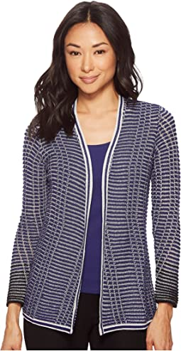 NIC+ZOE - Petite Striped Space Cardy
