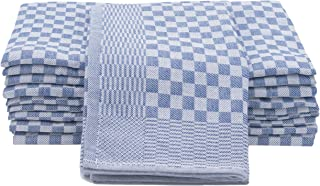 ZOLLNER 10er Set Geschirrtücher Baumwolle, 46x90 cm, blau-weiß-kariert