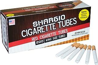 Shargio tubes 200 ct. Red King (10pack) FREE metal case