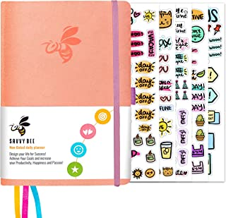 Savvy Bee Undated Daily Planner | Ideal Planner for All Kinds of Lifestyle for Improved Productivity | Set Plans, Achieve ...