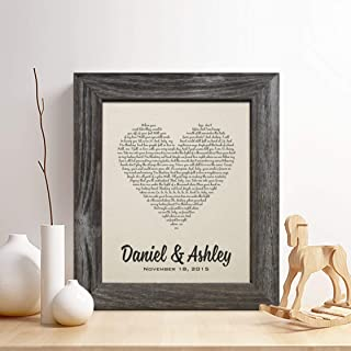 2nd Anniversary Cotton Gift for Him or Her, First Dance Song Cotton Print
