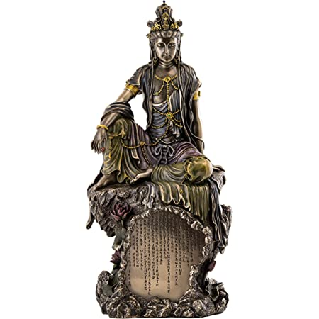 "1.9/"" Chinesische Bronze Buddhismus Kwan-yin Bodhisattva Amulett Anhänger Statue"