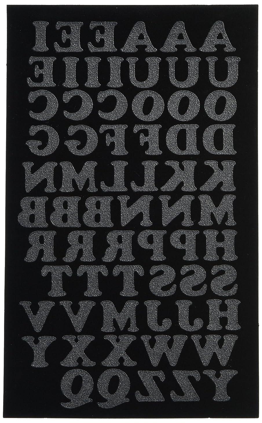 Dritz CO075HBK Iron-on Letters, Soft Flock, Cooper, 3/4-Inch, Black (1-Sheet)