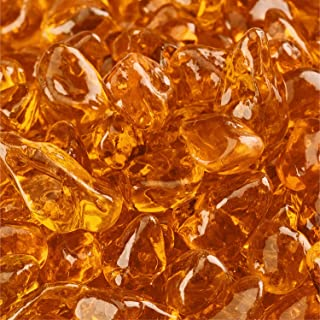 Mandarin Orange - Fire Glass Dots for Indoor and Outdoor Fire Pits or Fireplaces | 10 Pounds | 3/8 Inch