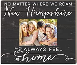 Kindred Hearts Weathered Slat Feels Like Home New Hampshire Photo Frame, Multicolor