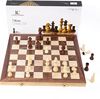 LifeChamp Chess Sets for Adults and Kids with 15
