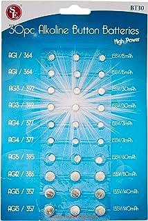 SE BT30 Assorted Alkaline Button Batteries (30 PC.)