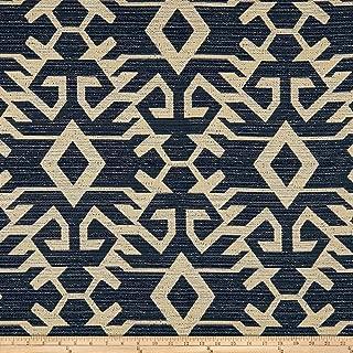 ARTISTRY Navajo Southwest Taos Pueblo Jacquard Fabric, Indigo