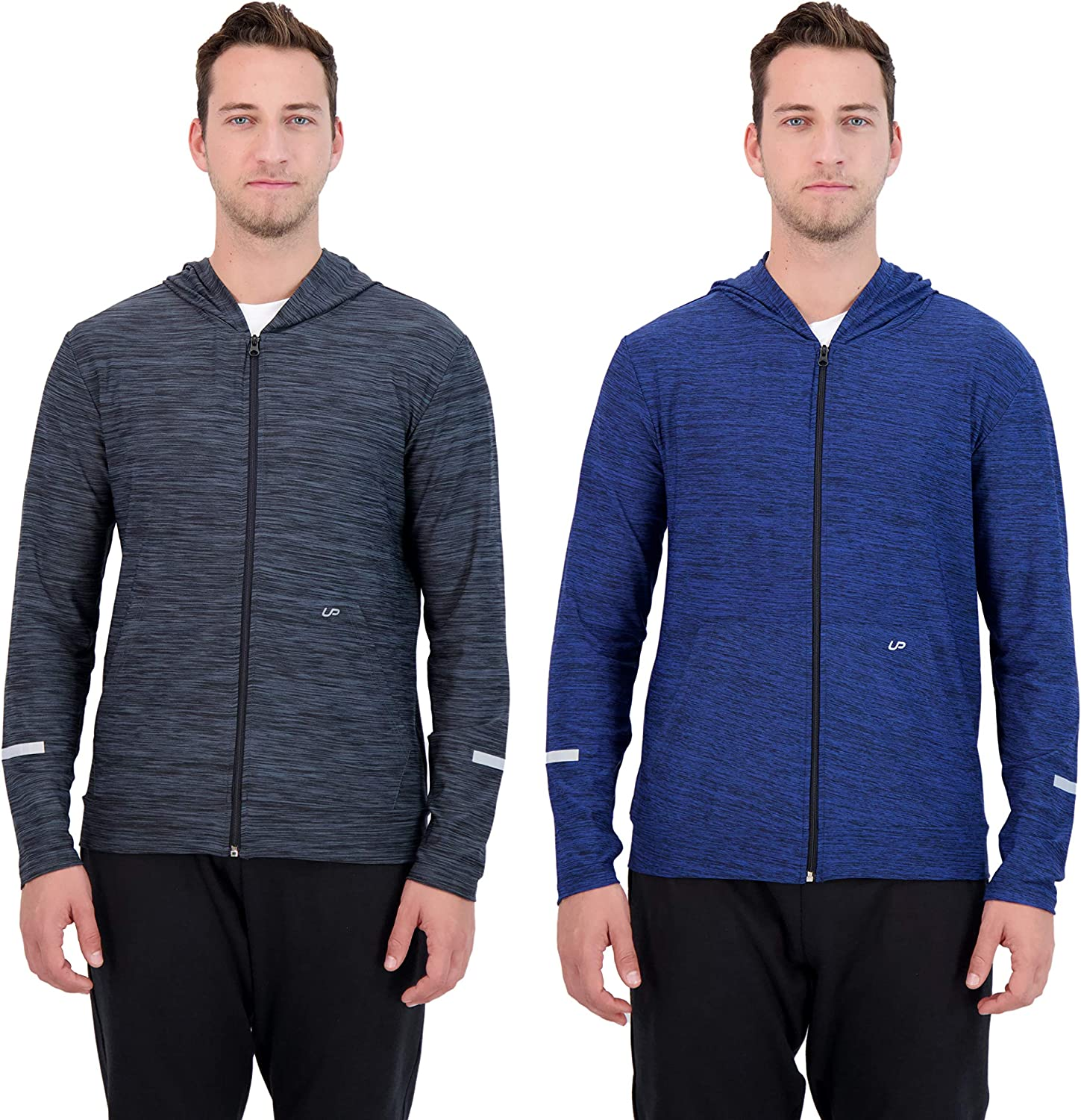 UNIPRO Over item handling Mens 2 Pack Zip-Up Hoodie Quick or Quarter Zip Dry Sweats Cheap super special price