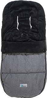 Altabebe AL2280P 01 Winterfußsack Travel geeignet für Bugaboo und Joolz, dunkelgrau/schwarz
